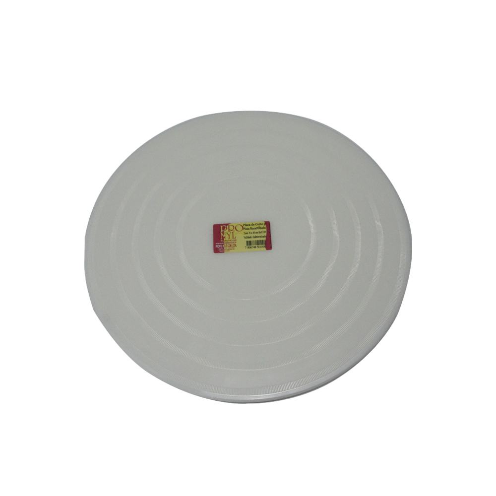 Placa de Pizza em Polietileno Branca Recartilhada de 30 cm Pronyl 140