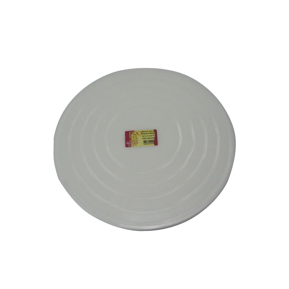 Placa de Pizza em Polietileno Branca Recartilhada de 40 cm Pronyl 109