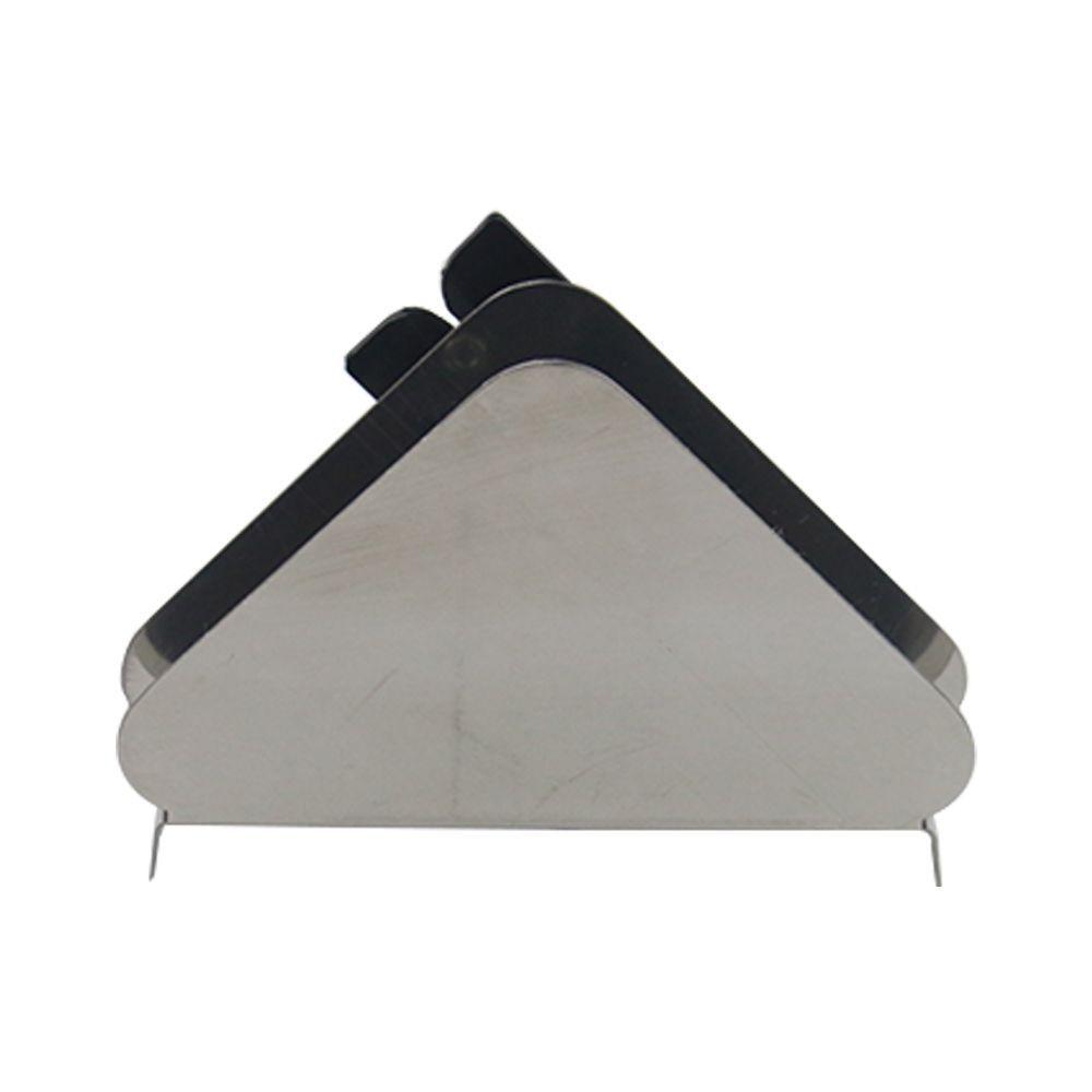 Porta Guardanapo de Mesa em Aço Inox com Cortador de Sachê Globo