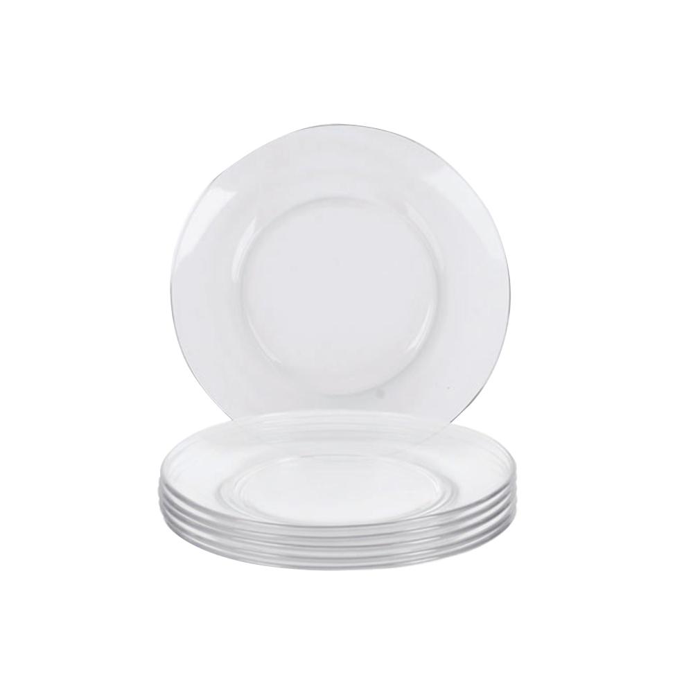 Prato de Sobremesa Duralex Astral Transparente 19 cm Cx 12 Un Nadir Figueiredo
