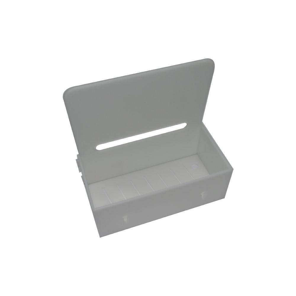 Suporte Branco Para Facas Pequeno Com Proteção 9x13x25cm Pronyl
