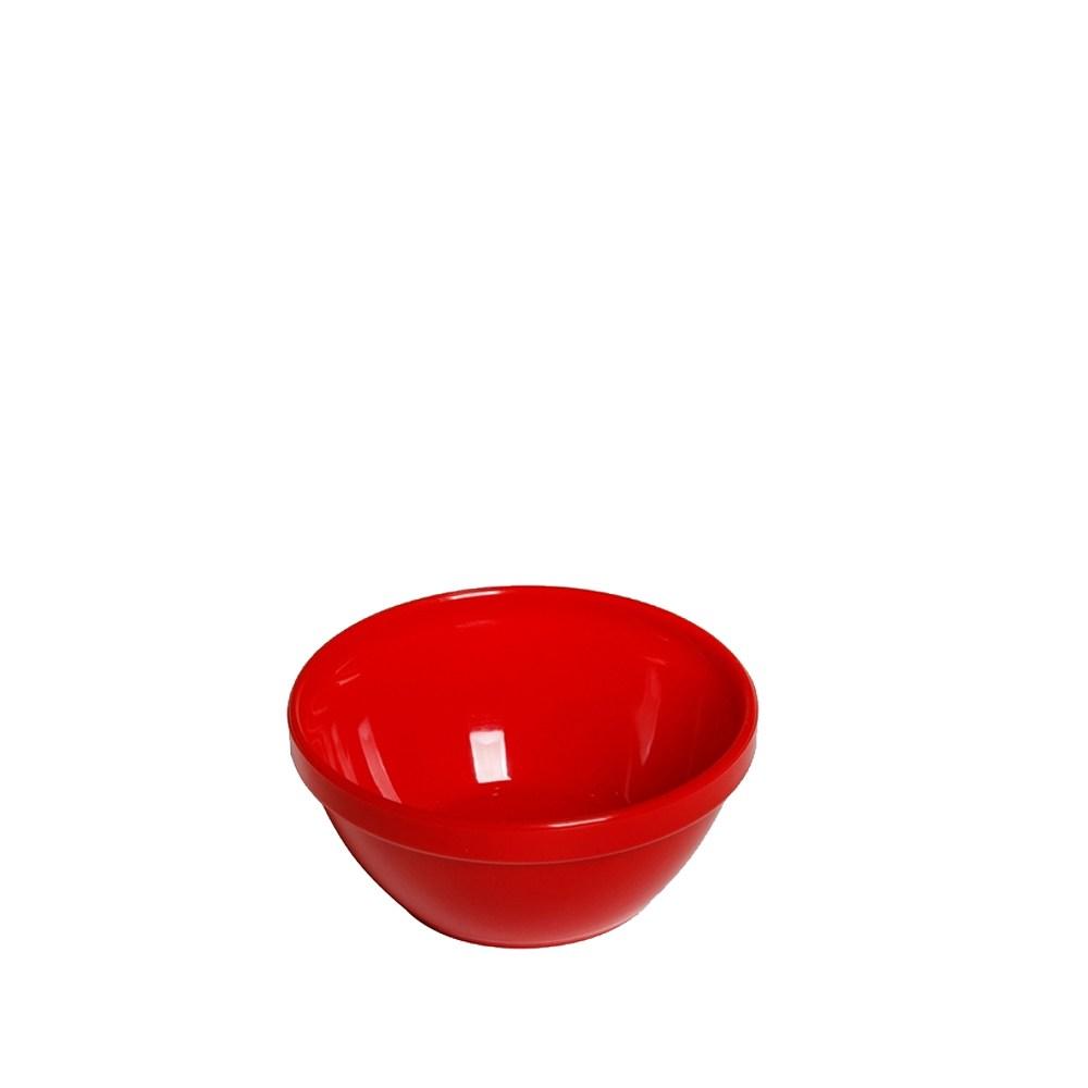 Tigela Cumbuca Bowl 250 ml Vermelha Polipropileno - Vemplast
