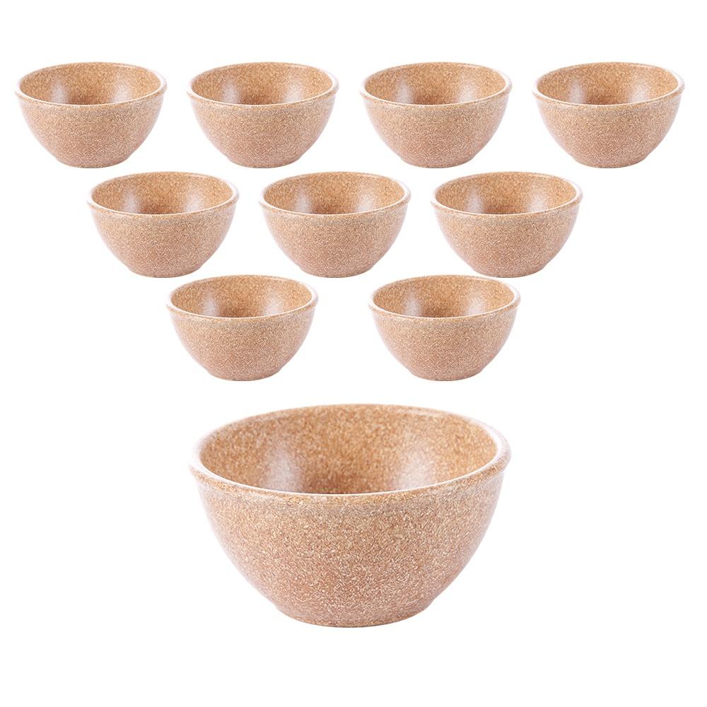 Tigela Cumbuca Bowl 300 ml Cerejeira WPC Produto Sustentável Kit 10 Unidades - Evo