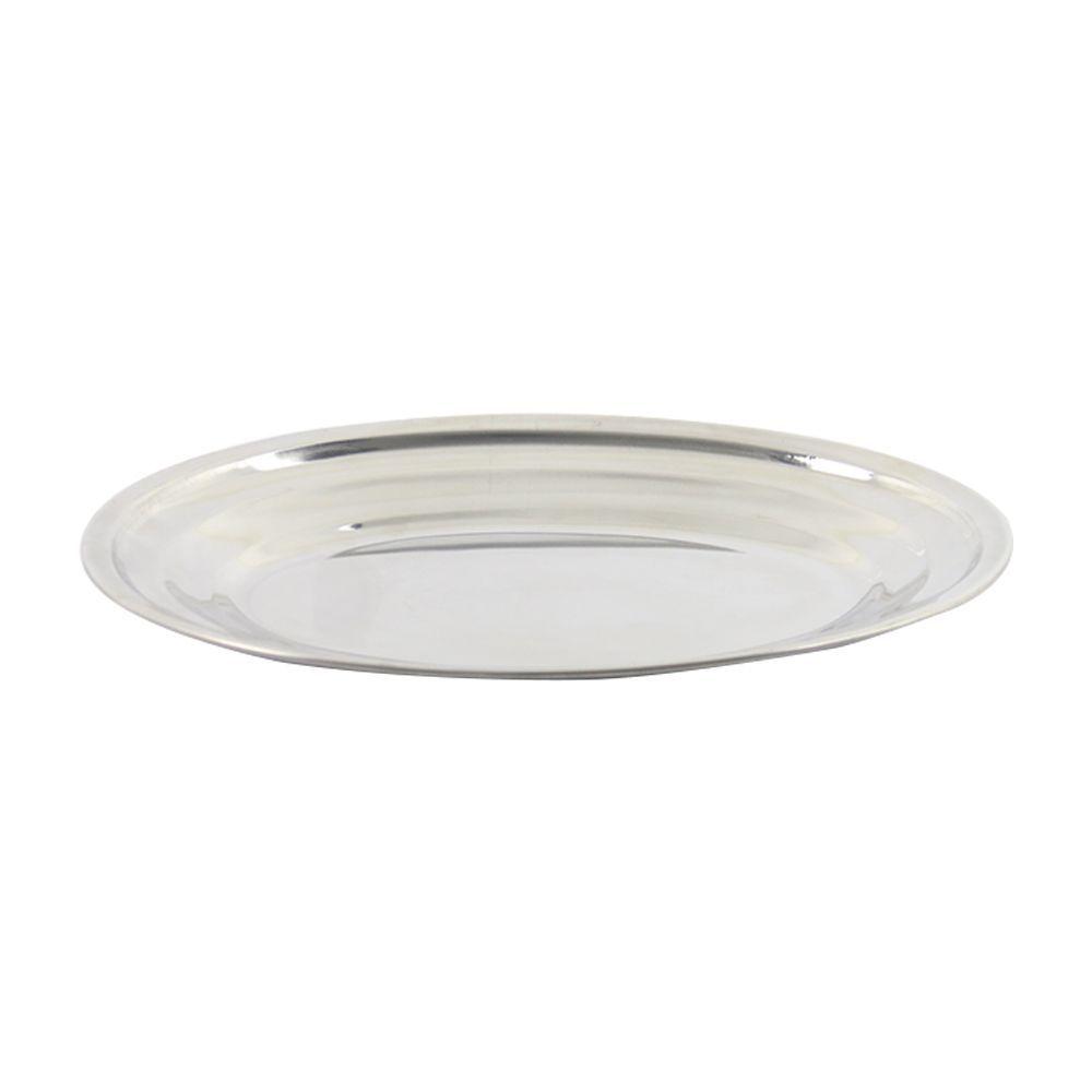 Travessa de Inox Oval Rasa 30 cm Tradicional Gourmetmix