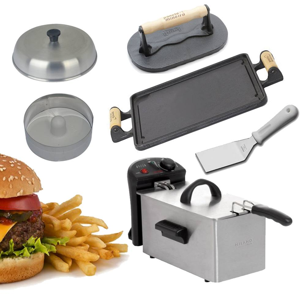 Kit Hamburgueiro Fast Food Caseiro Frigo