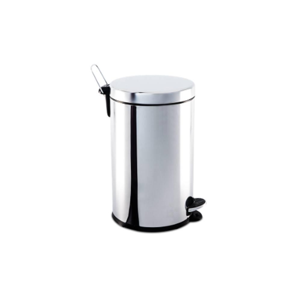 Lixeira Inox com Pedal e balde 12 litros Ø 25 x 41 cm - Brinox