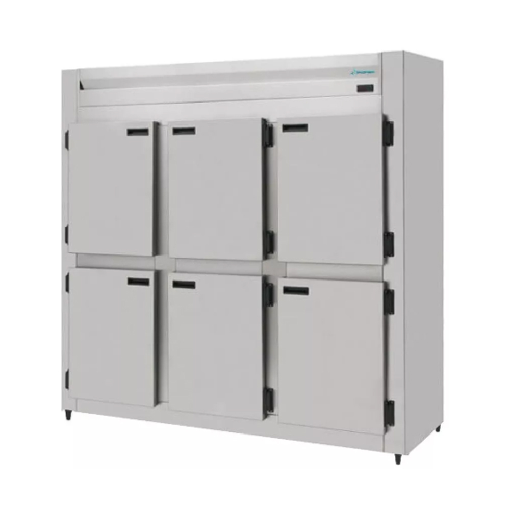 Mini Câmara Fria Industrial Inox 6 Portas 1290 Litros Kofisa