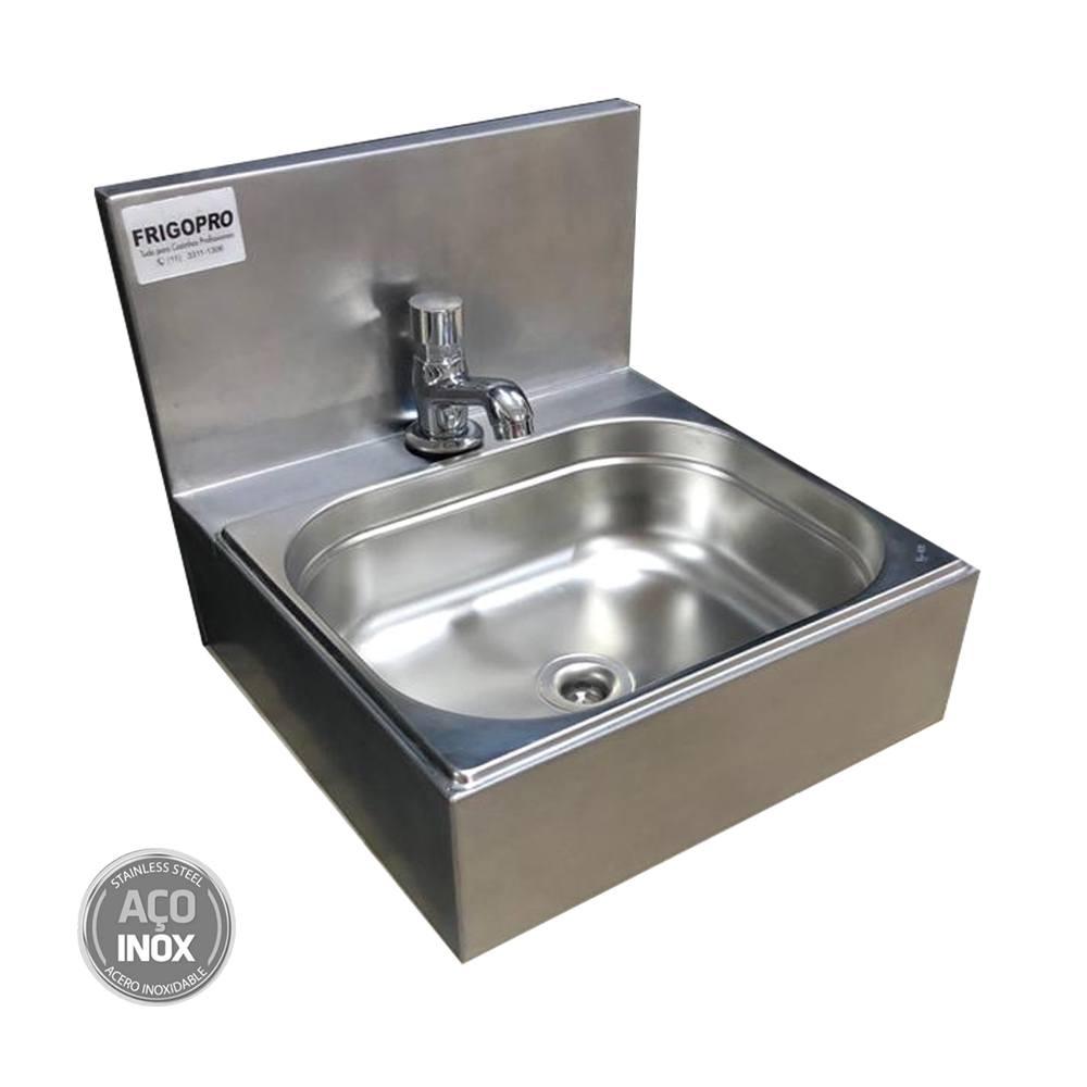 Pia de Assepsia Aço Inox  Acionamento de Água Manual Frigopro FRG19