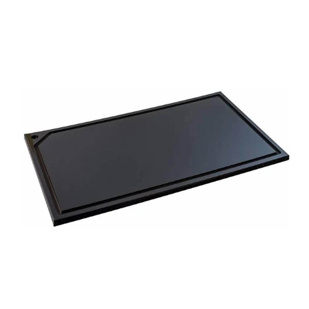Placa de Corte em Polietileno Preta 45X25X1 cm Pronyl 167