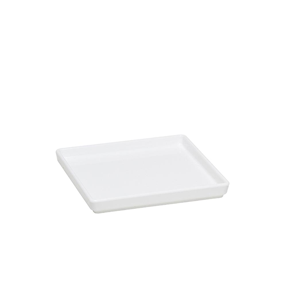 Prato Square 13,5x13,5 cm de Polipropileno Branca Vemplast