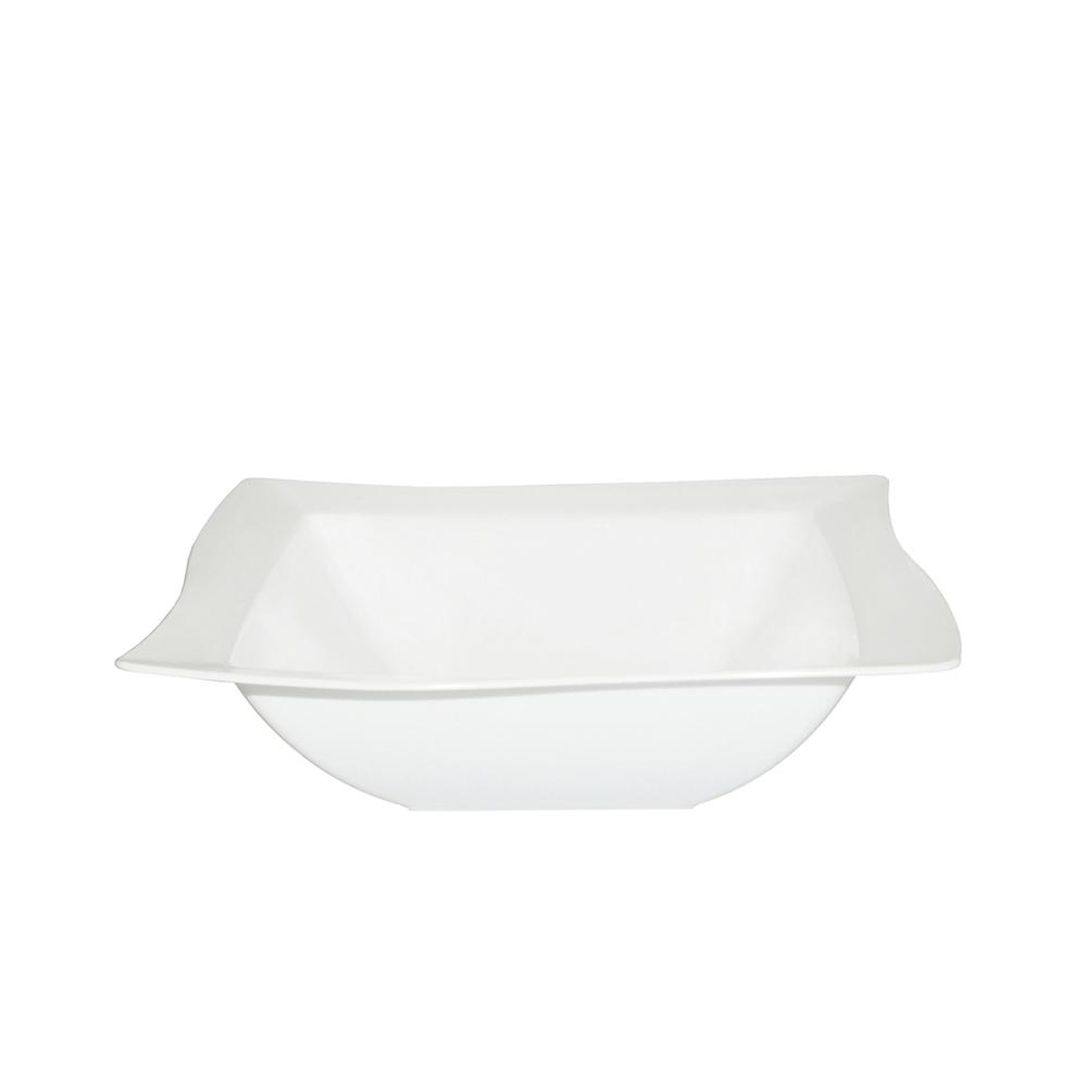 Saladeira Moove 25x25 cm de Policarbonato Branca Vemplast