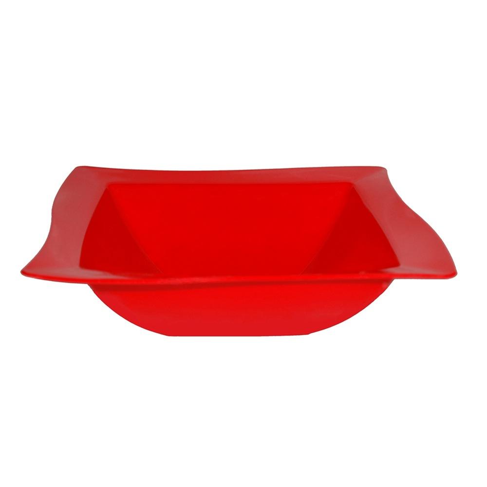 Saladeira Moove 25x25 cm de Policarbonato Vermelha Vemplast