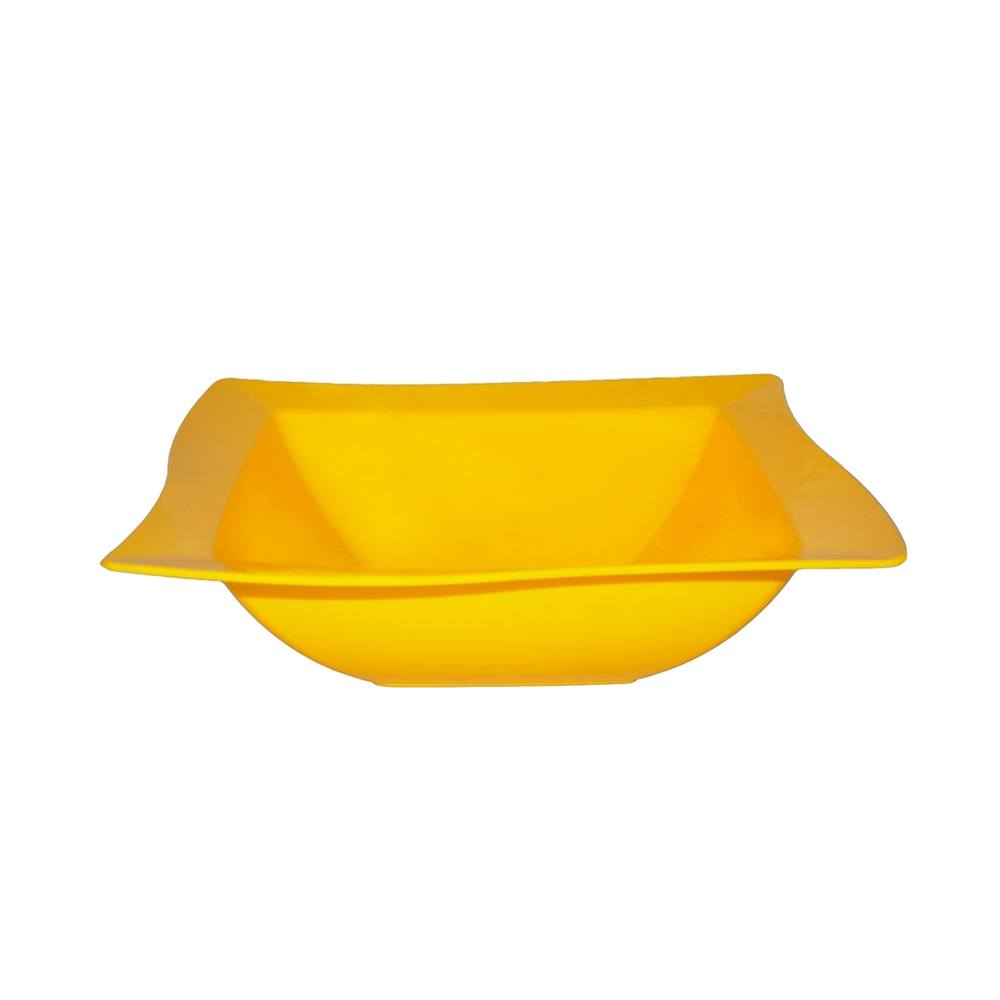 Saladeira Moove 25x25 cm de Polipropileno Amarela Vemplast