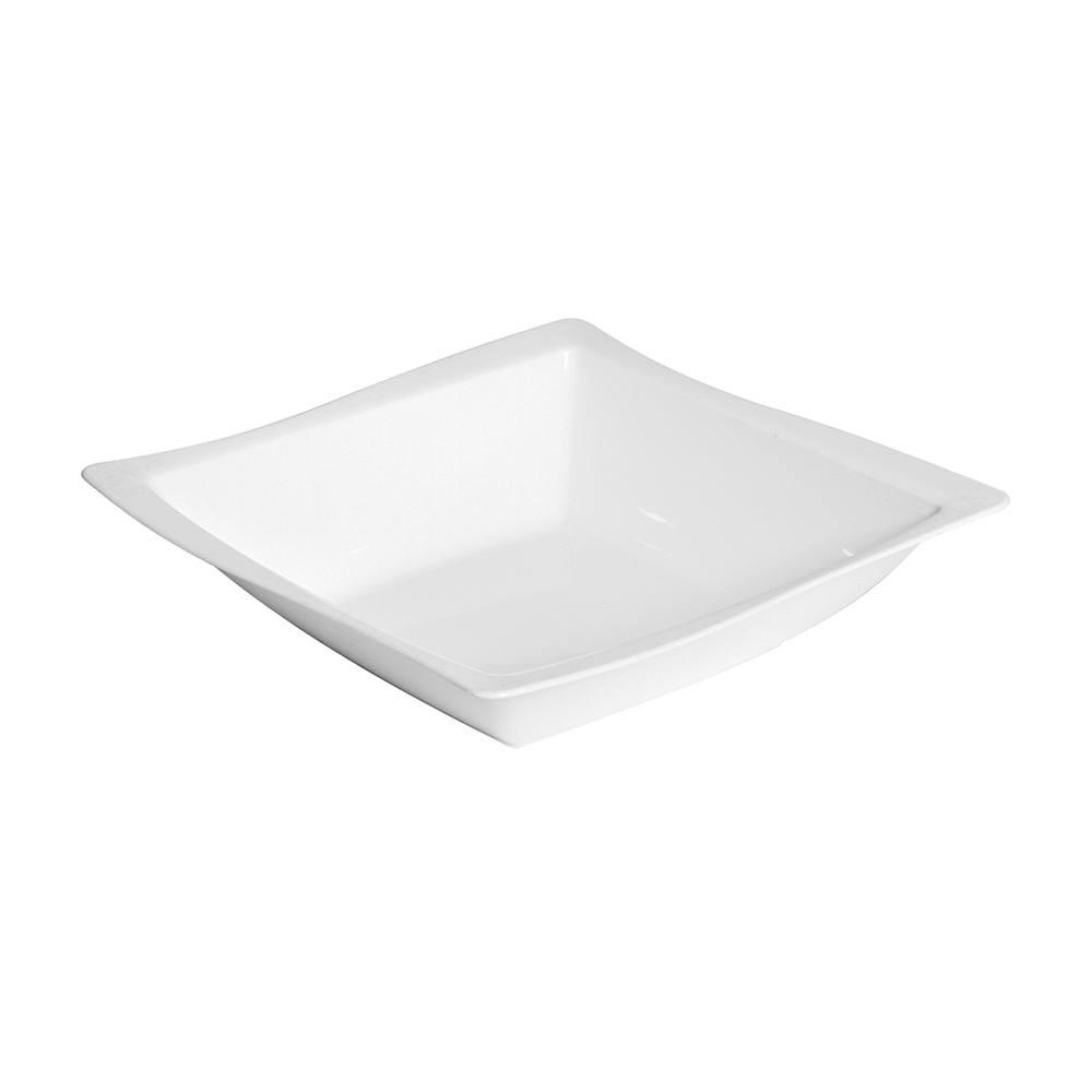 Saladeira Moove 25x25 cm de Polipropileno Branca Vemplast