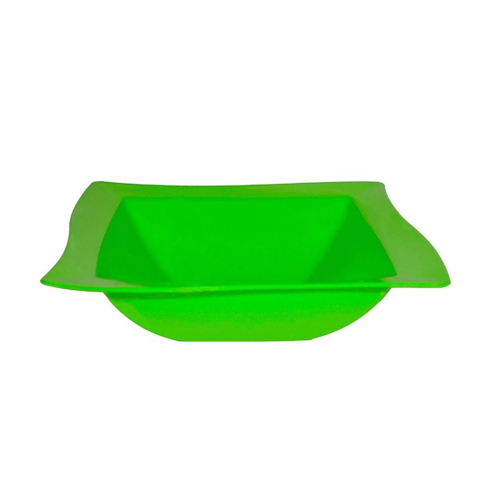 Saladeira Moove 25x25 cm de Polipropileno Verde Vemplast