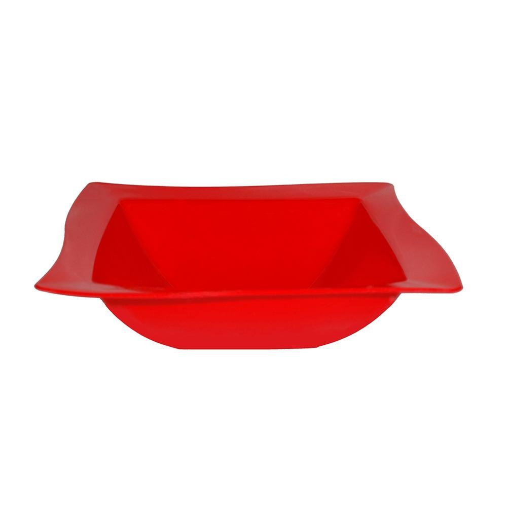 Saladeira Moove 25x25 cm de Polipropileno Vermelha Vemplast