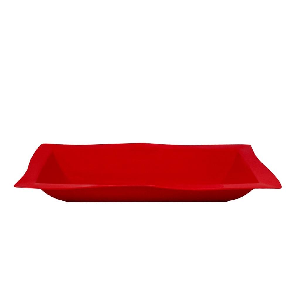 Saladeira Moove Grande 5 Lts de Policarbonato Vermelha Vemplast