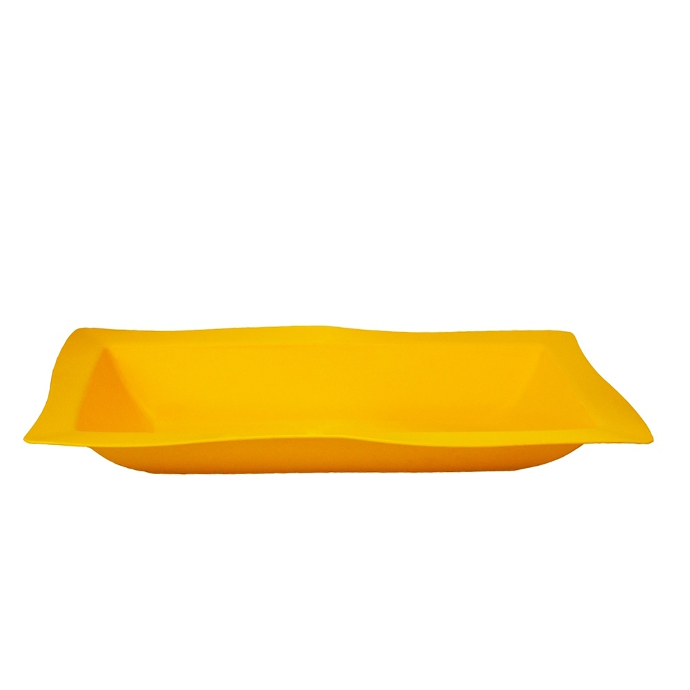 Saladeira Moove Grande de Polipropileno Amarela 5L Vemplast