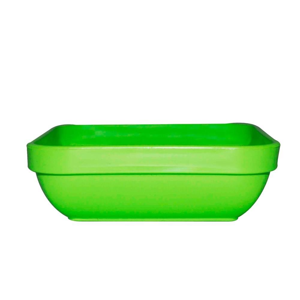 Travessa Cheff 250 ml 11x11 cm de Polipropileno Verde Vemplast