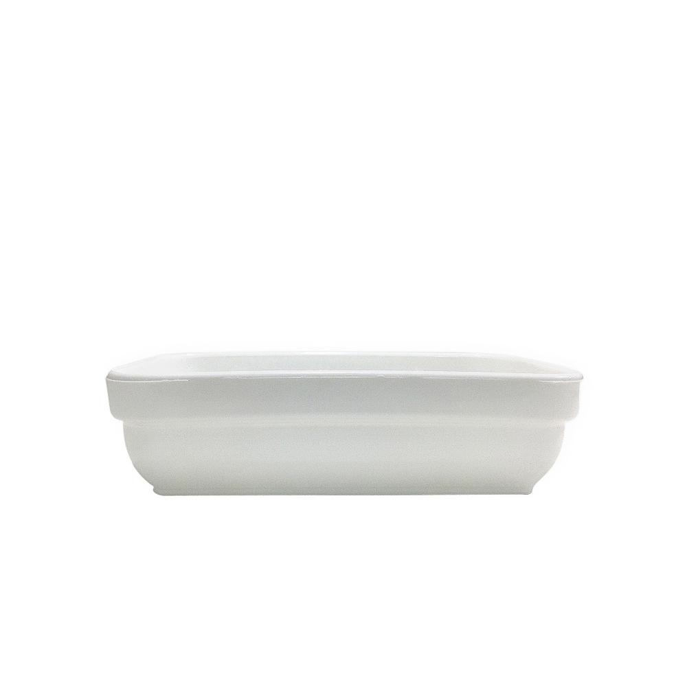 Travessa Cheff 250 ml 14x9 cm de Polipropileno Branco Vemplast