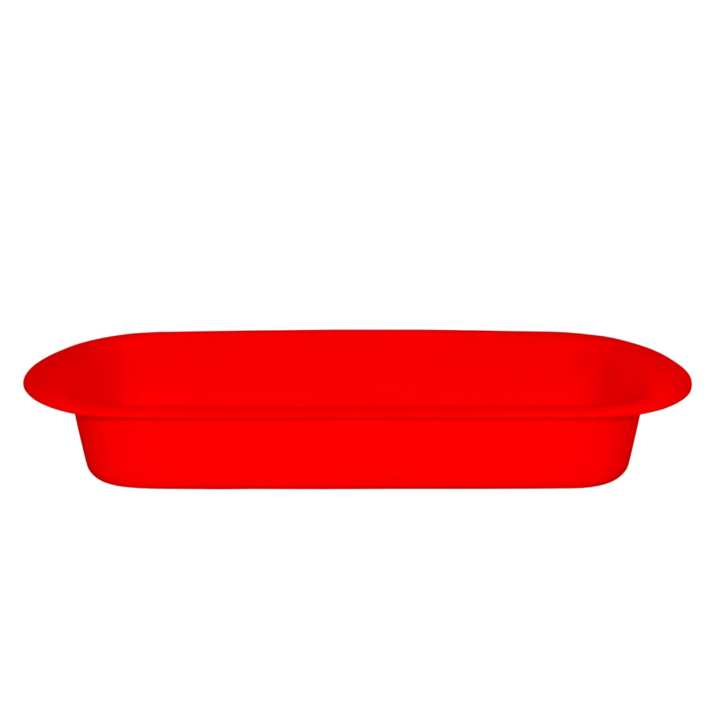 Travessa Servir 1,2 Lts de Polipropileno Vermelha Vemplast