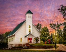 Wedding Chapel at sunset