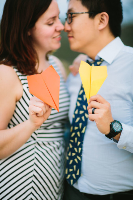 A Silly Seaside Engagement – Photo by Let's Frolic Together