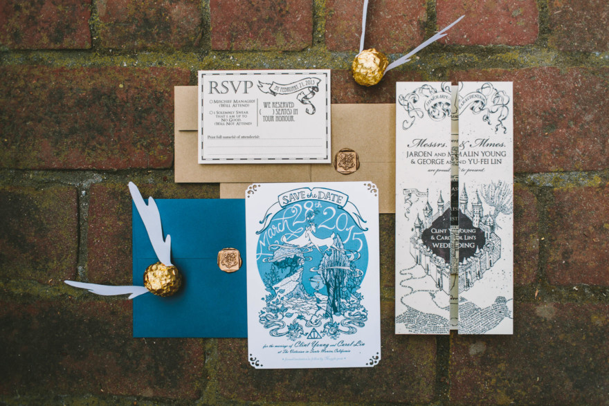 Magical DIY Harry Potter Wedding – Photo by Let's Frolic Together