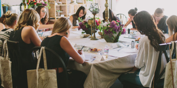 Twinkle & Toast Calligraphy Workshop – Photo by Let's Frolic Together