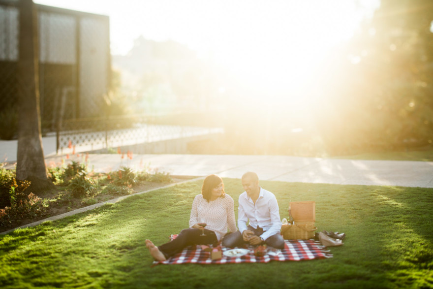 A Pink Picnic at Balboa Park – Photo by Let's Frolic Together