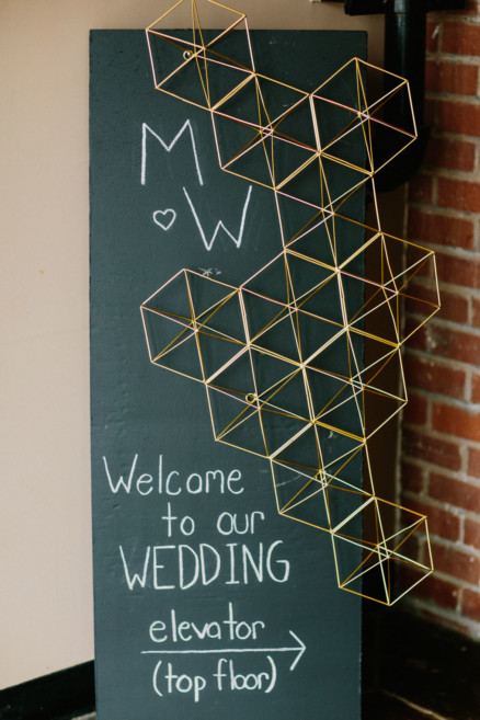 Urban East Coast Loft Wedding – Photo by Let's Frolic Together