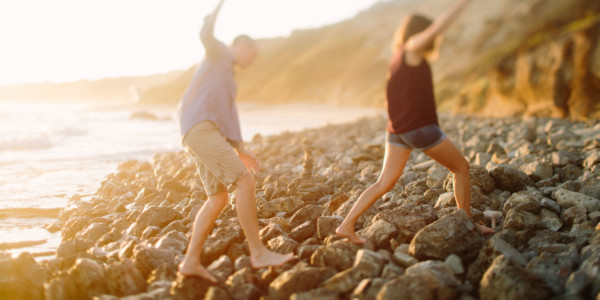 Beach Engagement Magic – Photo by Let's Frolic Together