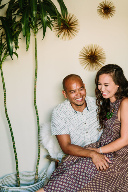 Cuddly and silly at-home engagement – Photo by Let's Frolic Together