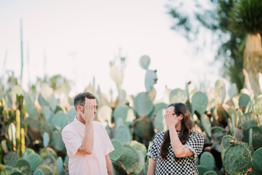 Creative Hunks in the Desert Garden – Photo by Let's Frolic Together