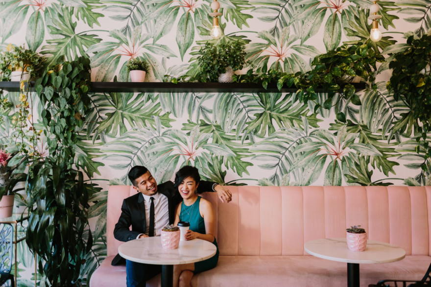 A Murals & Magic Engagement – Photo by Let's Frolic Together