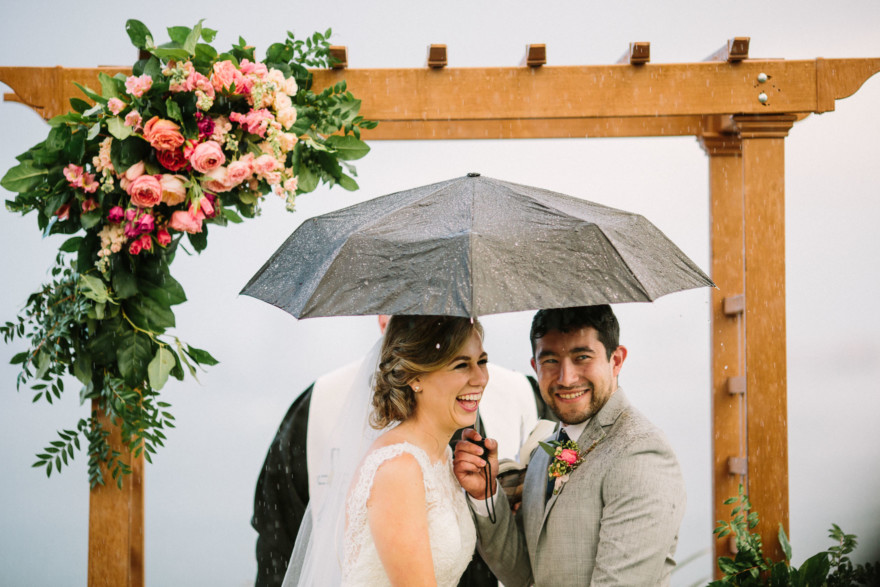 Wet Wedding at the Admiral Kidd Club – Photo by Let's Frolic Together