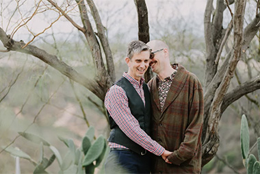 Same Sex Garden Engagement