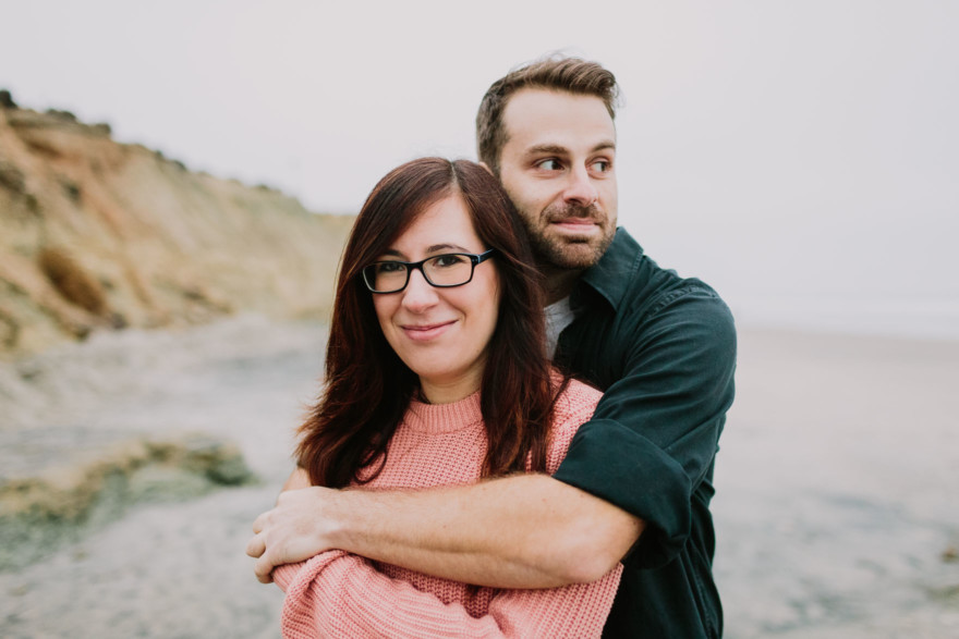 A Foggy Beach Engagement – Photo by Let's Frolic Together