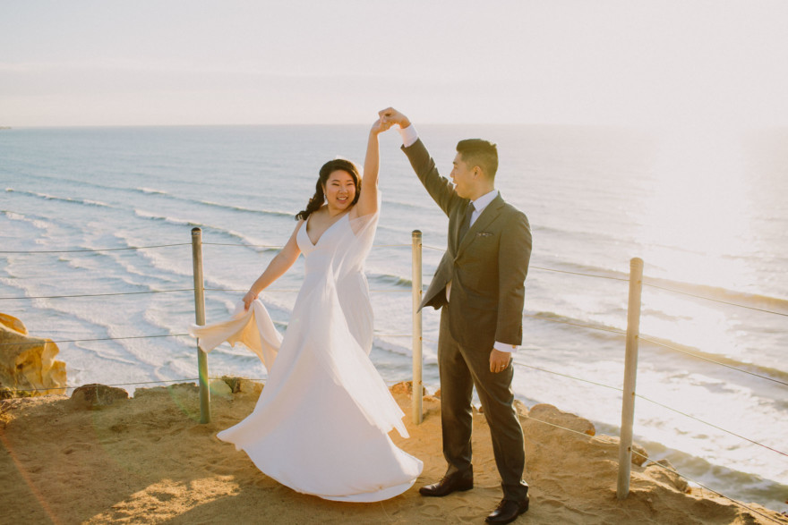 Magical Elopement at Torrey Pines – Photo by Let's Frolic Together
