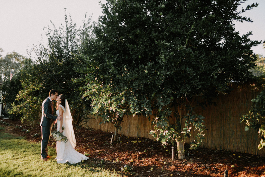 A Gorgeous Backyard Wedding Celebration – Photo by Let's Frolic Together