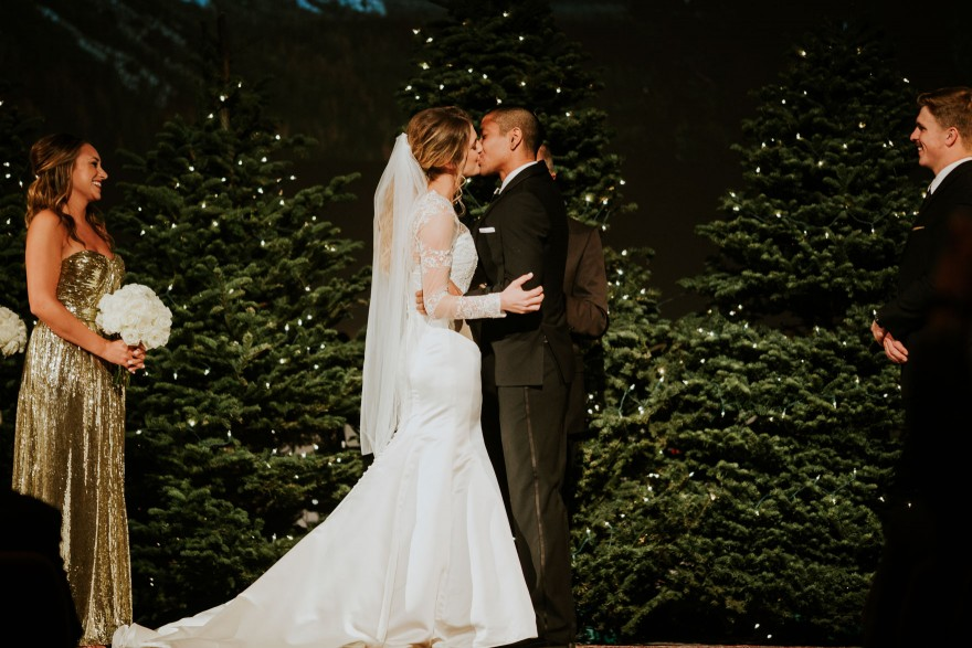 Twinkly Backyard Wedding Bash – Photo by Let's Frolic Together