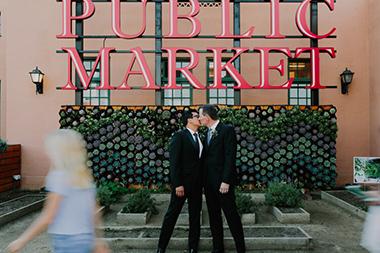 Industrial Same Sex Wedding