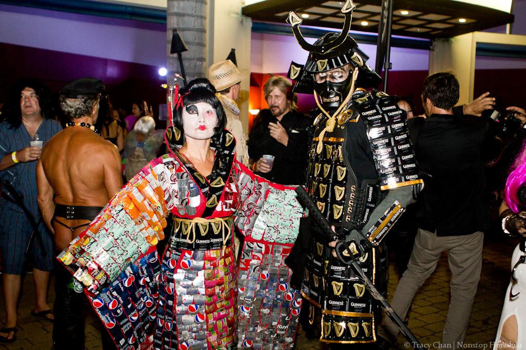 Crazy Sexy GHOUL Aluminum can geisha u0026 samurai & Best Halloween costumes so far | Frolic Hawaii
