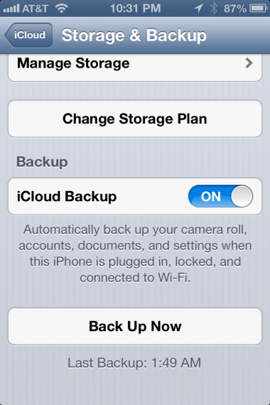 Make sure iPhone is backed up ti iCloud