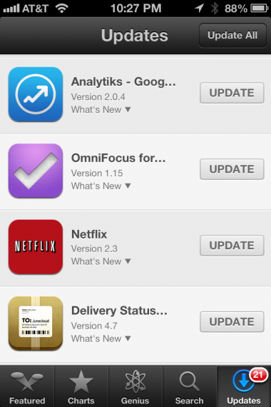 Update your Apps after installing iOS 6