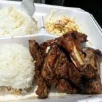 KAU KAU GRILL: Babyback ribs, poke bowls (spicy or shoyu), garlic shrimp, spicy barbecue spare ribs, pulehu short ribs