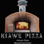 KIAWE PIZZA: Pizza Bianca with EVOO, carmelized onions, mozzarella, parmigiano regianno, thyme; Italian sausage on white sauce with roasted portobello mushrooms, mozzarella, fresh arugula