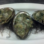 Roy's Poipu- Keahole Abalone Rockefeller - Served with Hawaiian Chili Pepper Water and Kunana Kale