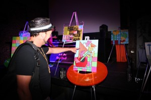 Kanoa Bristol complemented the pieces by adding black light and strobe.