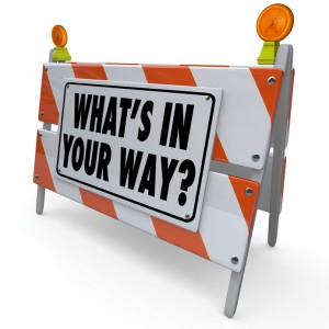 What's In Your Way Roadblock Barricade SIgn